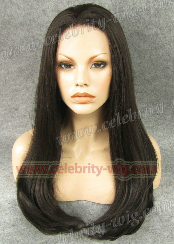 Aliexpress best selling natural color straight long synthetic lace front Rapunzel Wigs<br><br>Aliexpress