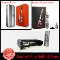 Kanger Electronic Cigarette Kanger Kbox 8-40W and Kanger Subtank Nano 3.0ML With 18650 Battery  And One Bay Charger