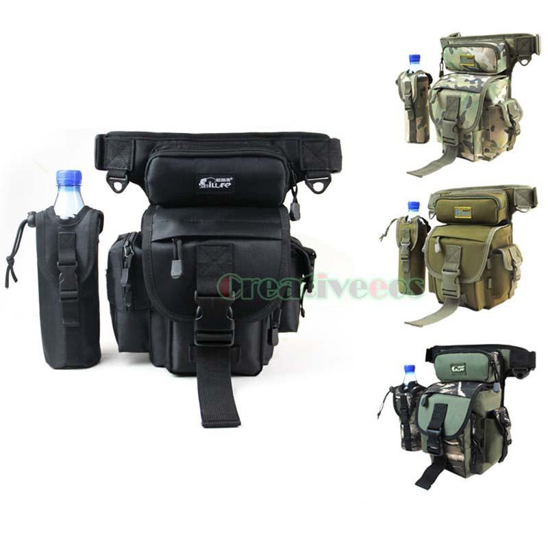 Men Military Tactical Travel Hiking Riding Cross Body Messenger Shoulder Hip Bum Waist Thigh Drop Fishing Tackle Camera Leg Bag(China (Mainland))