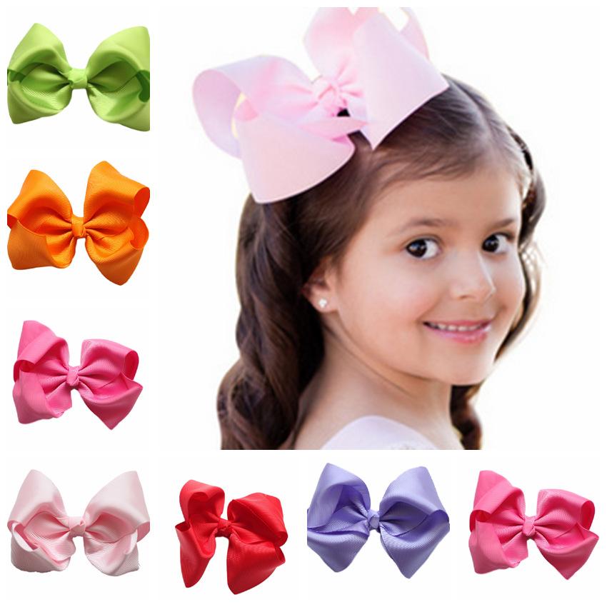 """2016 Korean baby flowers 4.8"""" big hair bow girls hair barrette cute hair clips hairpin headwear Children hair accessories(China (Mainland))"""