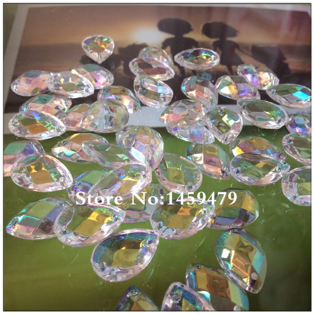 Loose Beads 2015 14*10mm White Crystal color 200pcs/Lot Rhinestones Acrylic Stones FlatBack Sew-On Accessories Grade AAA ssk1(China (Mainland))