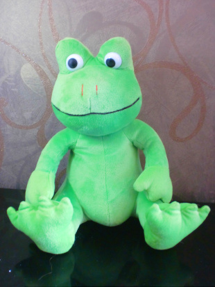 Stuffed toys Frog plush toy frog doll 25cm pink and green(China (Mainland))