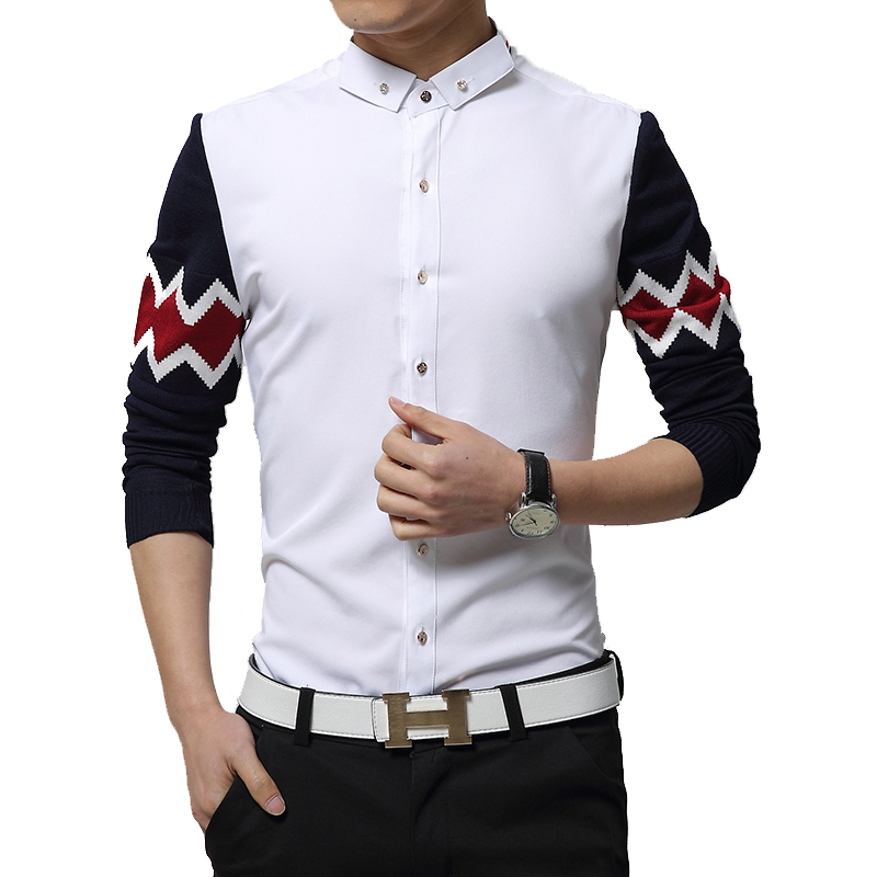 new spring fashion brand men clothes trend korean slim