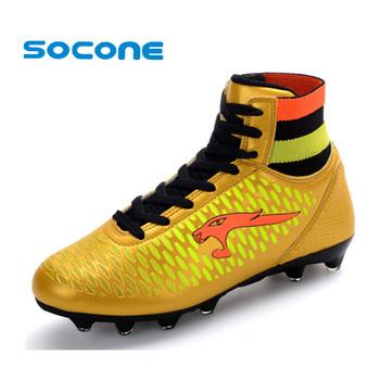 Мужские футбольные бутсы длинные шипы FG мужчины футбольные ботинки уличной обуви обучение футбол Chuteira Futebol спортивные футбольные бутсы