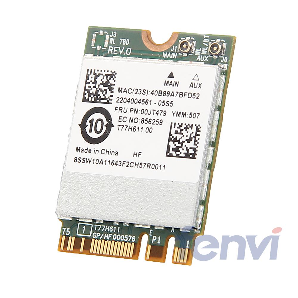 New Broadcom BCM94356ZAE Wireless-AC NGFF 867Mbps 802.11ac Wifi Bluetooth BT 4.1 Card For IBM/Lenovo FRU:00JT479 Network Adapter(China (Mainland))