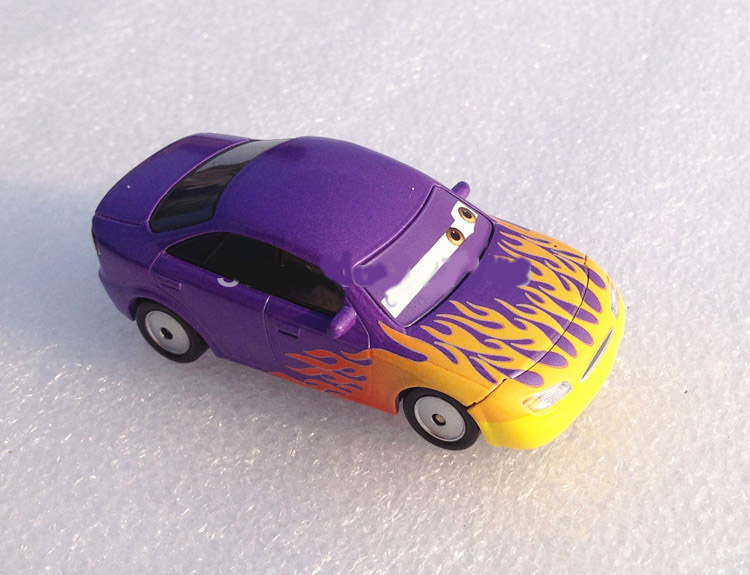 100% Original Pixar Cars 2 Toys 1:55 Scale Die Casting Alloys Purple flame Diecast Models Kids Toys Car Toys For Children(China (Mainland))