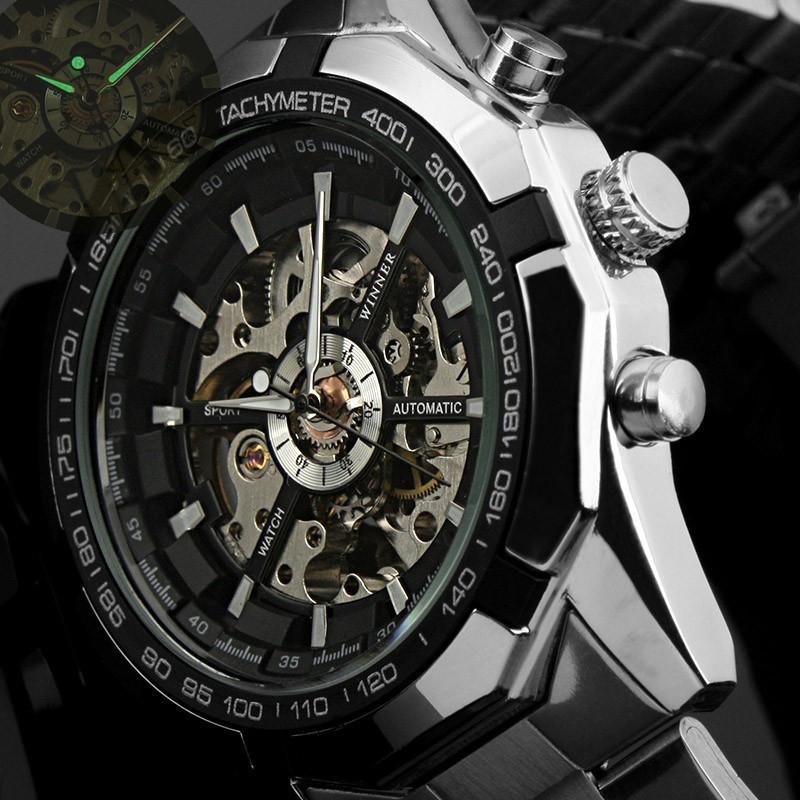 Winner Mens Sport Watch Automatic Skeleton Mechanical Watches Top Brand Luxury relojes hombre Clock Men watch Relogio Masculino(China (Mainland))