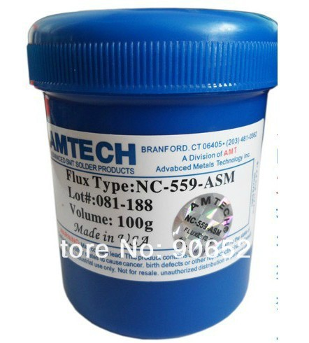 Free Shipping Amtech solder paste NC-559-ASM 100g lead free BGA solder flux(China (Mainland))
