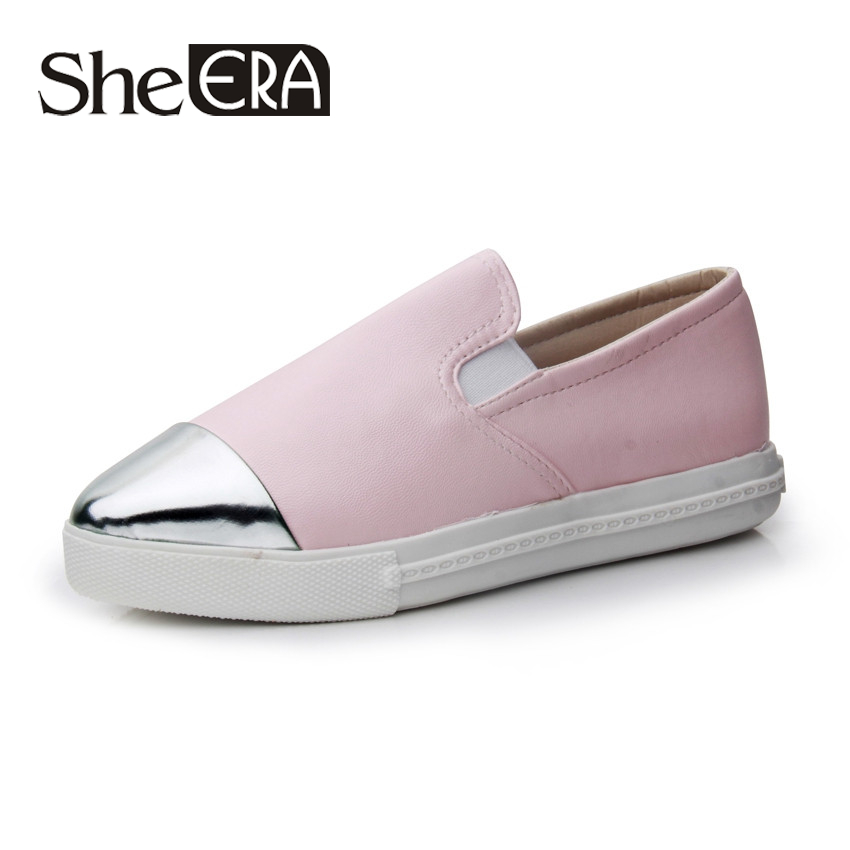 2016 New Women Shoes Casual Fashion Flat Spell Color Low-Heeled Retro Woman - She ERA Classic store