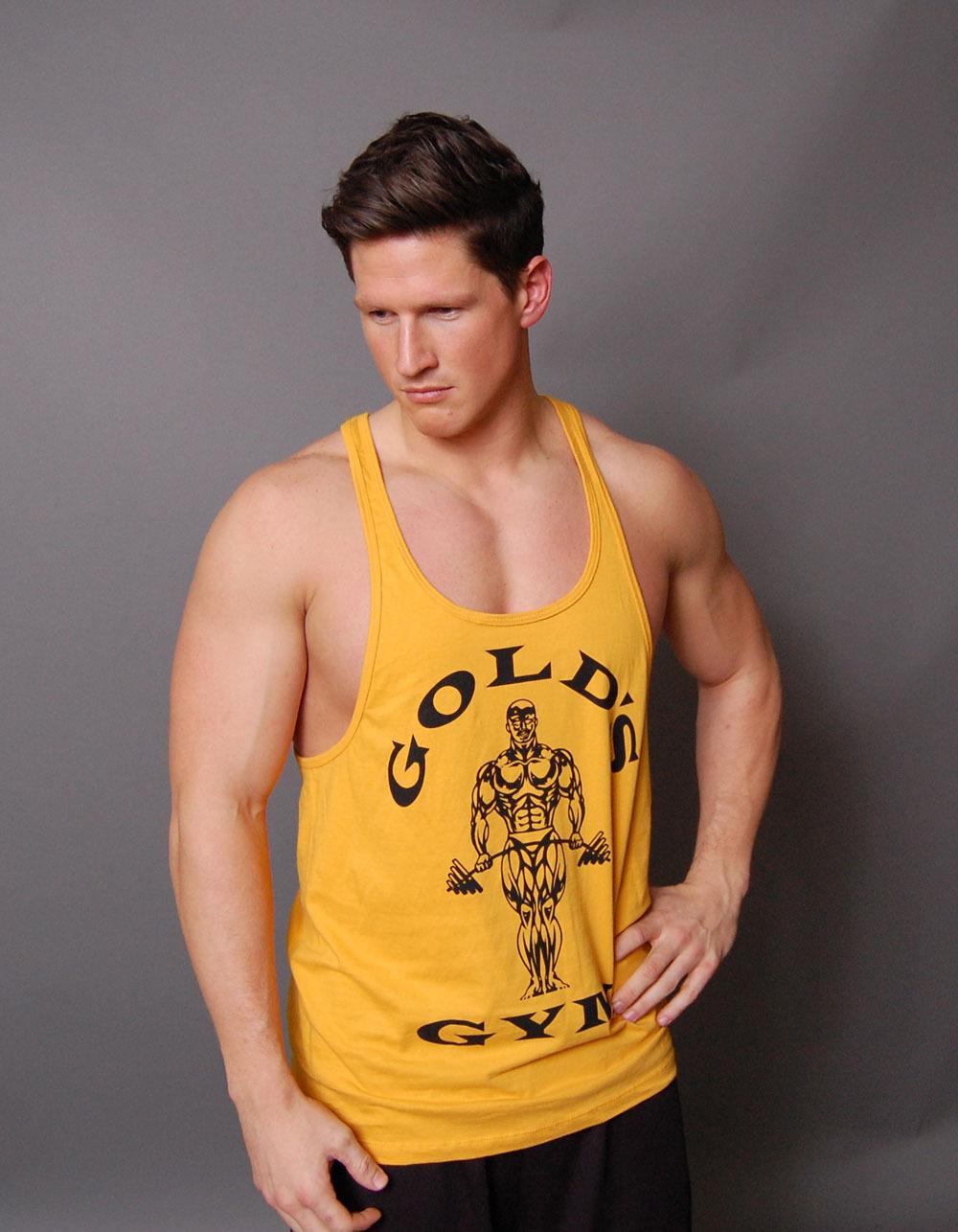 bodybuilding stringer tank tops fitness men cotton gold 39 s. Black Bedroom Furniture Sets. Home Design Ideas