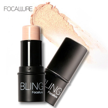 Focallure Bling Highlighter stick All Over Shimmer Highlighting Powder Creamy Texture Water-proof Silver Shimmer Light(China (Mainland))