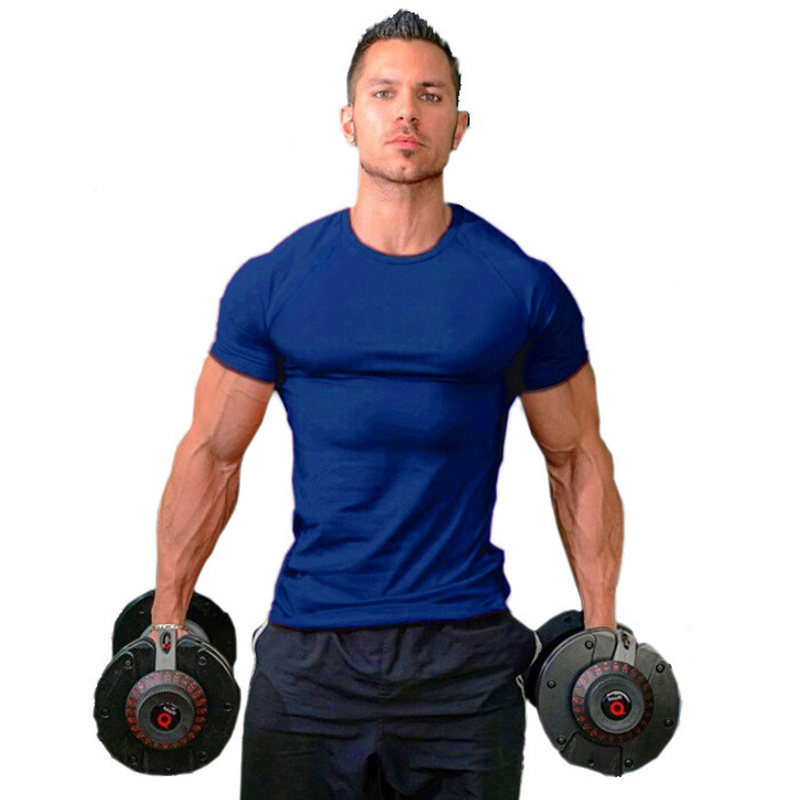 Mens T Shirt High Quality Men Casual Undershirt Solid Cotton Brand Hip top T-shirt Fitness Tshirt Homme Brand Fitness Clothing(China (Mainland))