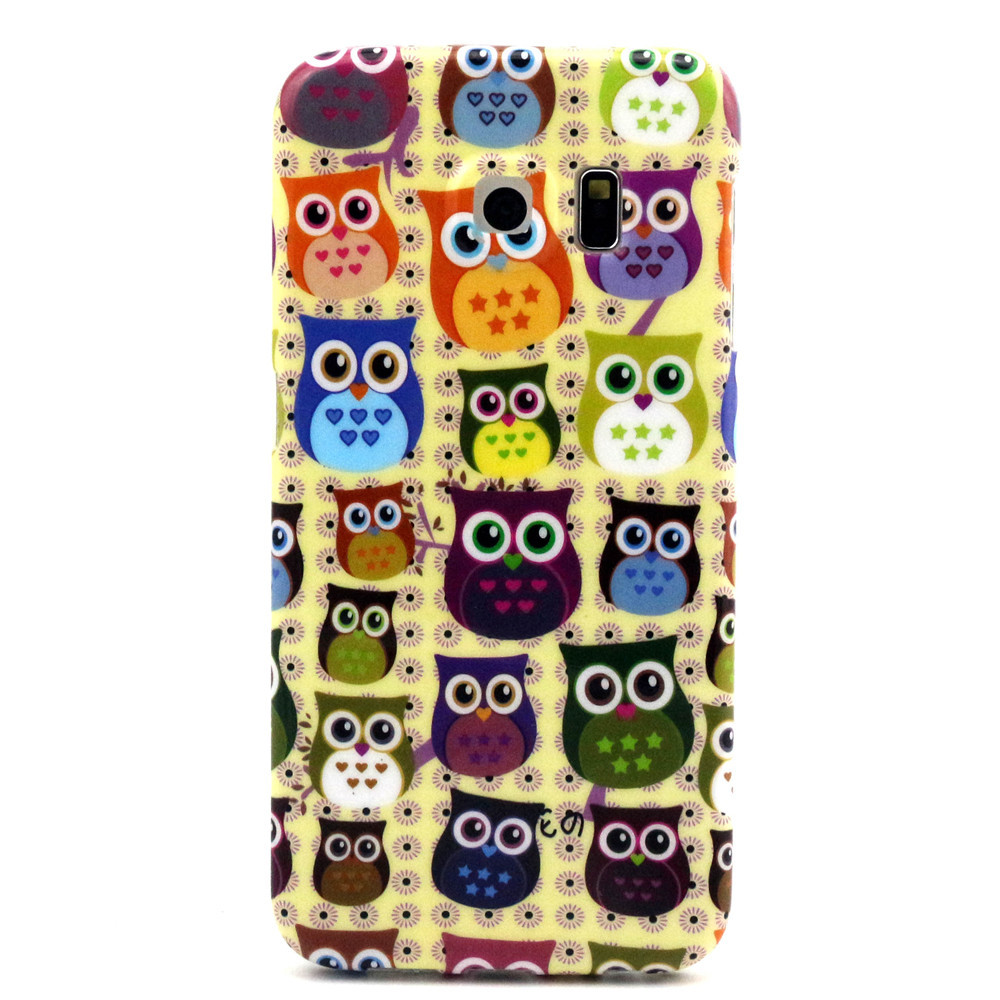 S6 edge Case, 2015 Hot Sell Premium Flexible Soft TPU [Scratch Resistant] Case for Samsung Galaxy S6 Edge - Funny Owl(China (Mainland))