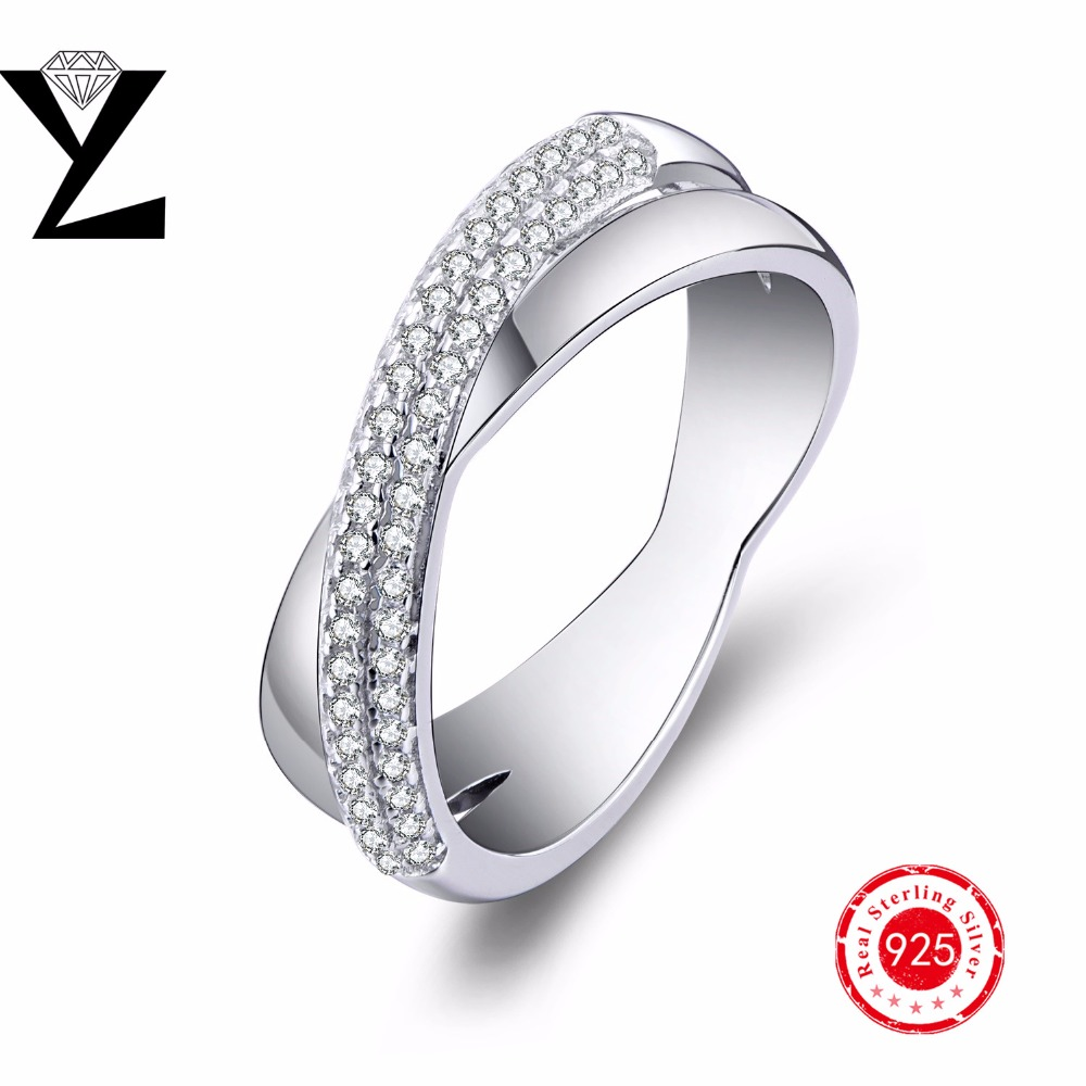 Geometric 925 Sterling Silver Engagement Rings for Women AAA CZ diamond sterling-silver-jewelry wholesale Valentine's Day Gift(China (Mainland))