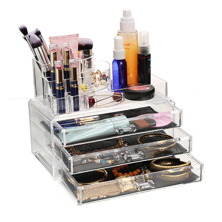Acrylic Makeup Organizer Display Stand Acrylic Cosmetic Organizer drawer Makeup Case Makeup Storage Box Rangement Maquillage(China (Mainland))