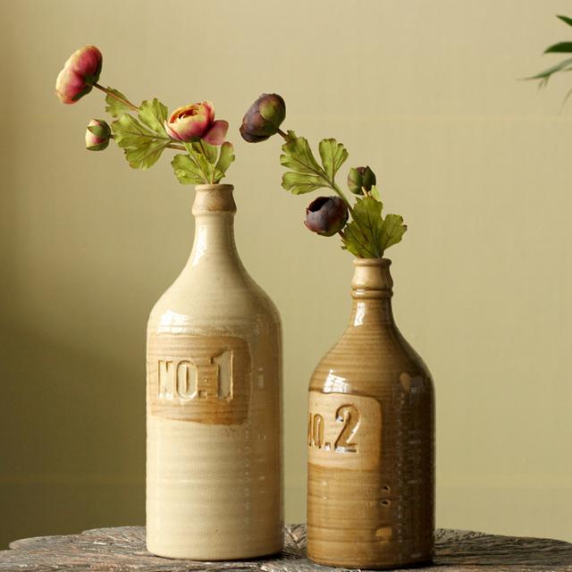 American style modern quality home accessories ceramic vase decoration vintage retro finishing crack kiln bottle no .