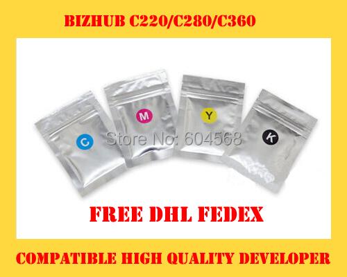 High quality developer powder compatible for Konica Minolta Bizhub c220/c280/c360/220/280/360 Free Shipping DHL FEDEX(China (Mainland))