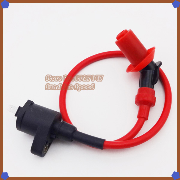 High Performance Red Racing Ignition Coil For GY6 50cc 125cc 150cc Moped Scooter Go Kart ATV Quads(China (Mainland))
