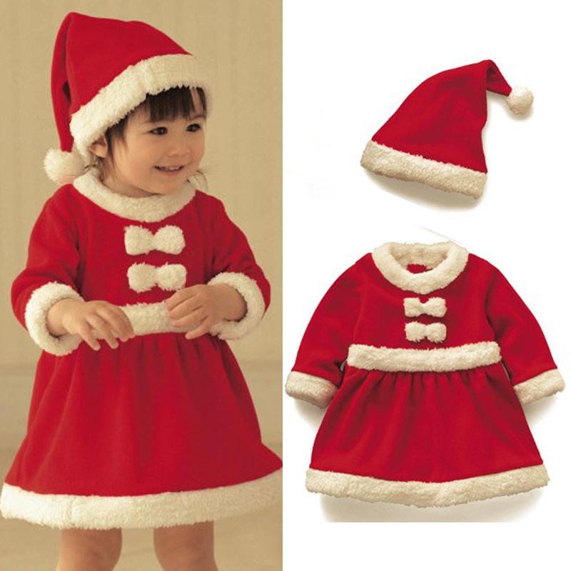 Yrs baby girl winter dress christmas red santa little girls dresses