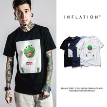2016 brand clothing cotton T-shirt cartoon frog print round collar short sleeve homme tshirt t shirt sup Cartoon animal