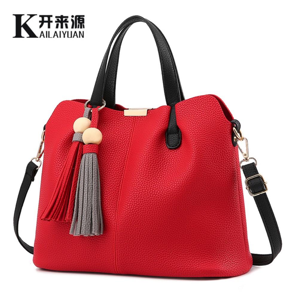 100% Genuine leather Women handbags 2016 New Korean type sweet fashion handbag Crossbody Shoulder Handbag women messenger bags(China (Mainland))