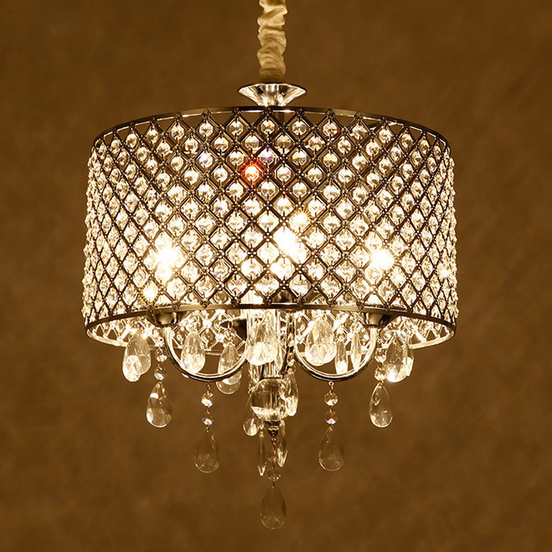 Modern E14 Chain Pendant Restaurant Cafe light villa luxury crystal chandelier lamp free shipping(China (Mainland))