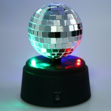 Hot Art Deco Table Lamp LED Mirror Ball Pattern Multi Color Changing Light For Desk Decoration Nice Gifts All Children Adult