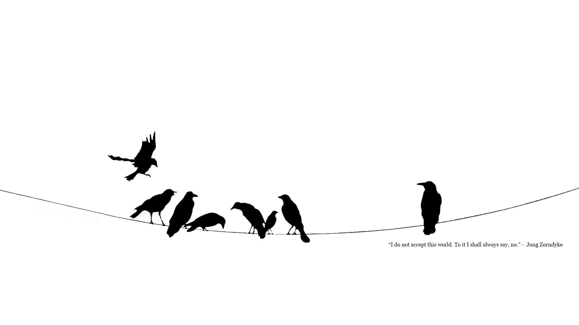 black and white minimalistic power lines crows ravens 12x18 20x30 24x36 32x48 Inch poster Print 9(China (Mainland))