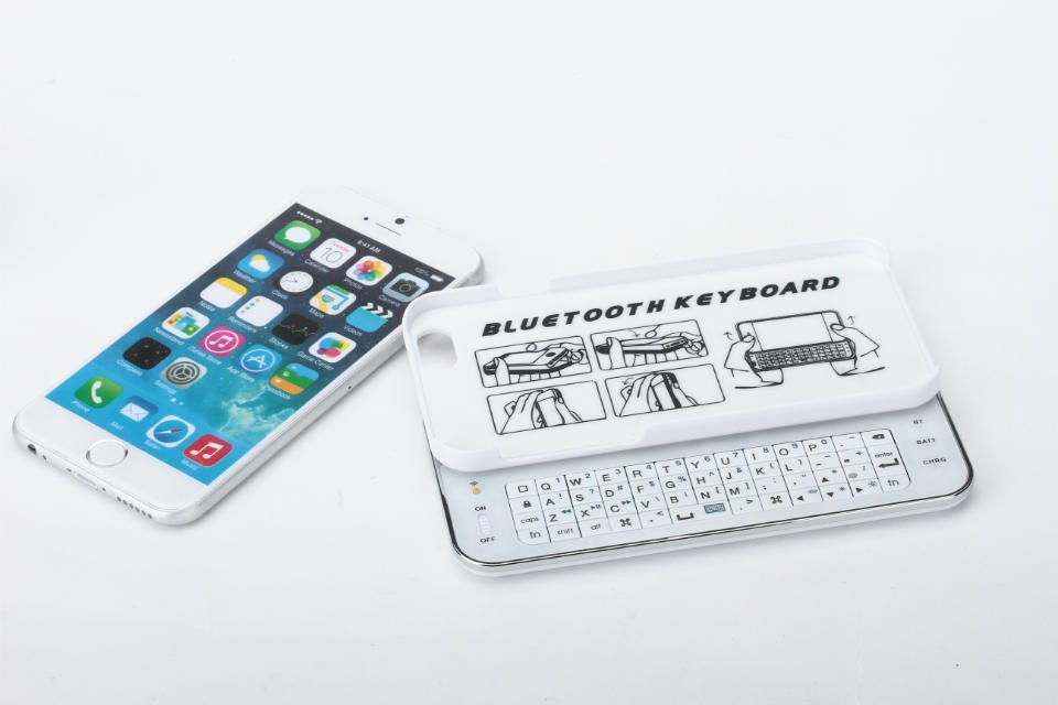 2015 newest HT-CH006 New Stand keybaord case for iPHone 6 6G 4.7 inch with wireless bluetooth keyboard free shipping(China (Mainland))