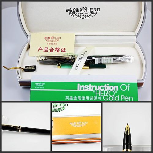 Fountain pen roewe 1179 black gold lea clip 10k fountain pens fountain pens<br><br>Aliexpress