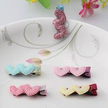 Baby Girls Hair Accessories Sequins Glitter Heart Star Hair Clip Kids Children Hairpins Barrettes Wholesale Haar Speldjes