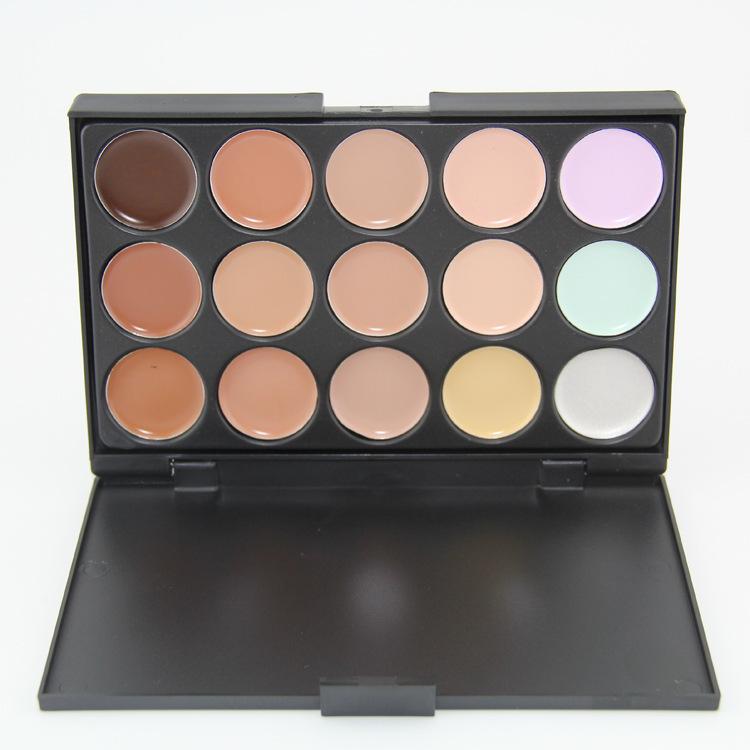 Pro Cosmetic Multi-Function Makeup Face Cream Powder foundation 15 Colors Concealer Palette Make set - Eden--Dear Lover store