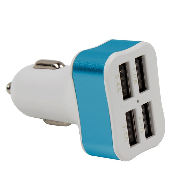 Triple Universal USB Car Charger 4 Port Car-charger Adapter Socket 2A 2.1A 1A Car Styling USB Charger For Car-Styling
