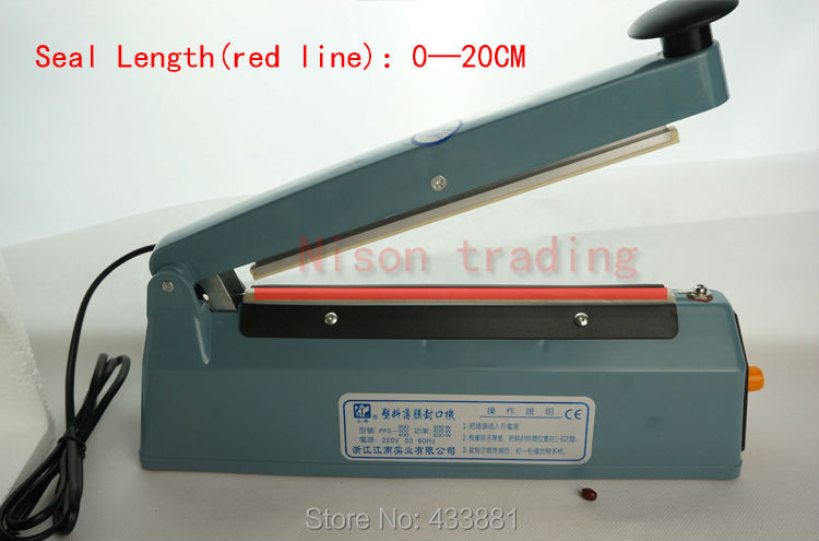 20CM(8 inch)-Voltage(220V)Heat seal machine hand seamer manual sealing - Nison trading store