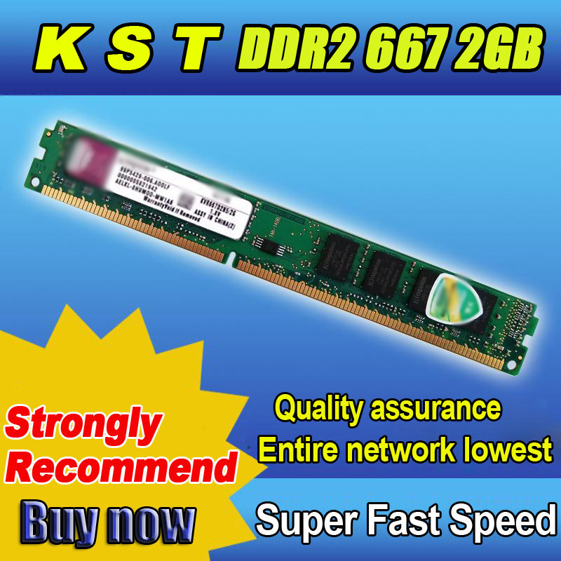 2015 Hot Famous Brand RAMs DDR2 667 MHz 2G Desktop PC Computer Memory DDR2 RAM 2GB Memoria DDR 2 Compatible 533 Dual Channel 4GB(China (Mainland))