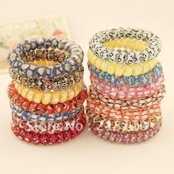 New Colorful Girl's Rubber Hair Ties Bands Headband Phone Strap Hair Band,