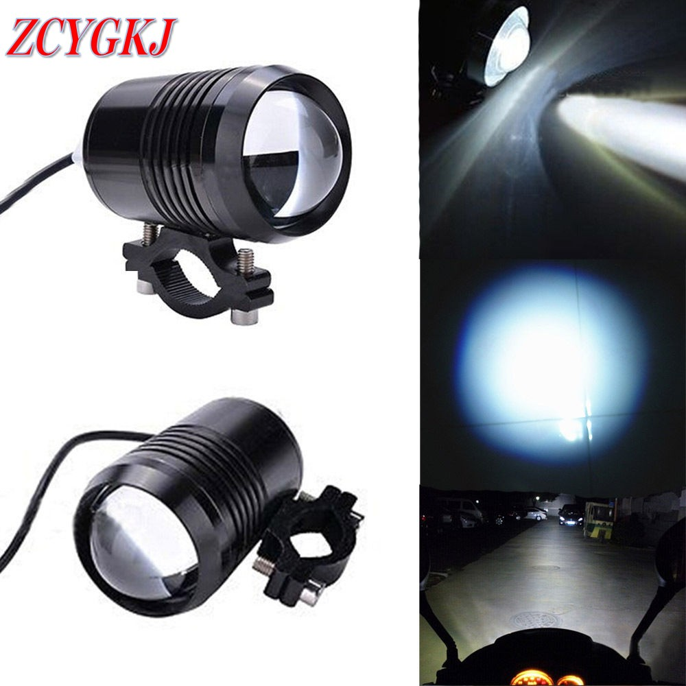 2 pcs Motorcycle Motorbike Headlamp 2 colors Black Silver 15W 12V White CREE LED Auxiliary Lamp Fog Lamps Spot Light Headlight(China (Mainland))