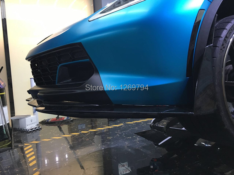 Stage 3 Front Bumper Lip+ Front Splitter Extension Winglets Designed For Chevrolet Corvette C7 Z06 Z07