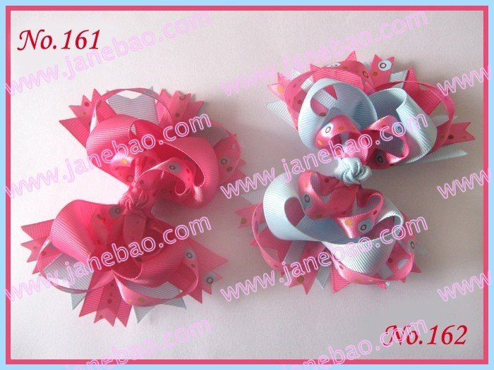 free shipping 60pcs Boutique hair bows 4.5''  Bout...