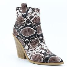 Thương Hiệu Giày Bốt Nữ Dây Kéo Thời Trang Thu Đông Loài Rắn Mắt Cá Chân Giày Cho Nữ Giày Cao Gót Nữ Giày Chelsea Boot Nữ kích Thước 46(China)