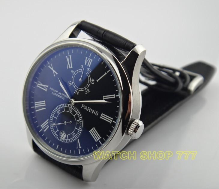 Бесплатная доставка высокое качество 2016 новая мода 43 мм ПАРНИС Азии автоматические механические движения мужские часы оптовая x00028