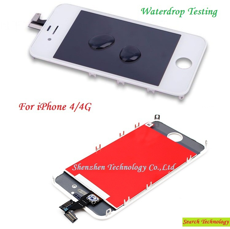 Whole color For iPhone 4 Home-grown Quality A LCD Screen+Digitizer Touch Screen Completely Assembly With Frame, Free shipping!