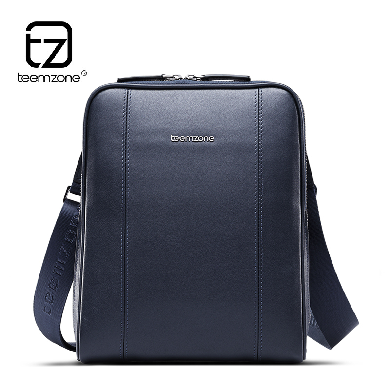 Teemzone case for 9 7 iPad Fashion Top Quality Leather Cowhide Men Messenger Bags Single Shoulder