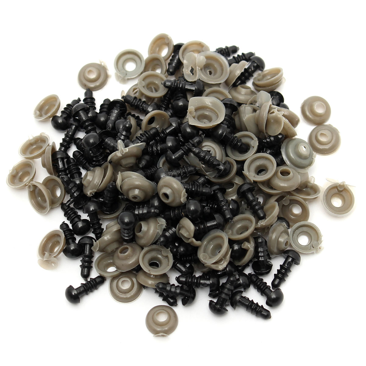 Wholesale Cheapest 100Pcs/50 Pairs 6mm Black Plastic Safety Eyes For Teddy Bear Stuffed Toys Snap Animal Puppet Dolls Craft(China (Mainland))