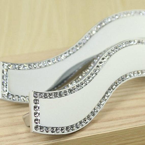 Crystal Dresser Handles Pulls Art Drawer Pulls Handles Knobs Glass Cabinet Handles Knobs Furniture Handle Pull Knob Hardware(China (Mainland))