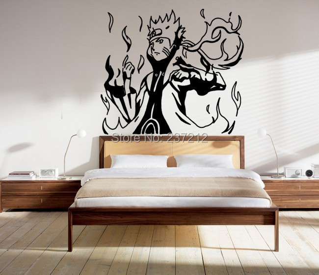 Autocollants de tatouage mur promotion achetez des for Decoration murale naruto