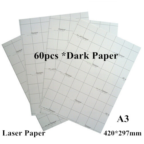 (A3*60pcs) Laser Heat Transfer Printing Paper Dark Iron-on Transfers For Clothes Papel Transfer Thermal Fabric Transfer Paper(China (Mainland))
