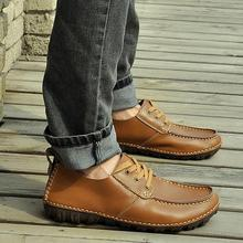 2014 British Style Mens Genuine Leather Casual Flats Driving Shoes Moccasins Slip On Loafers Fashion Sneakers