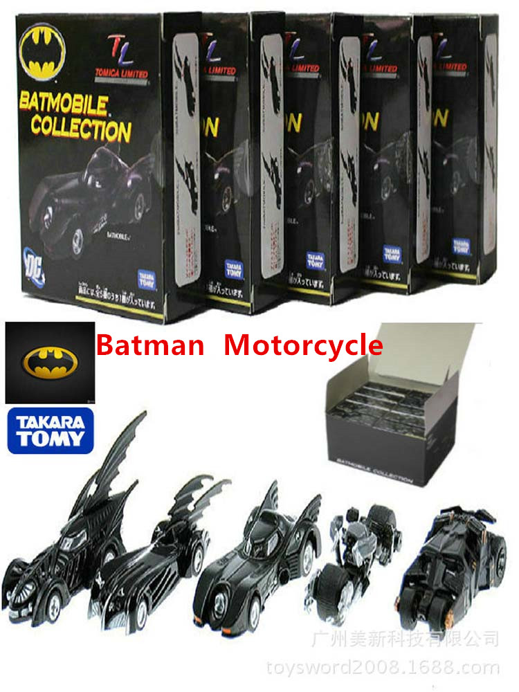 5pcs Super Batman Motor Makar qualified Collection Alloy Models Batman Batmobile Metal Motorcycle Chariot For Kids Toys(China (Mainland))