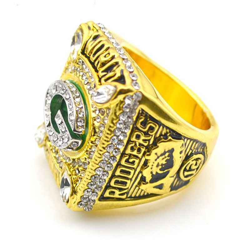 Wholesale Super Bowl 2010 Green Bay Packers Zinc Alloy 24K gold plated Custom Sports Replica Fans World Championship Ring(China (Mainland))